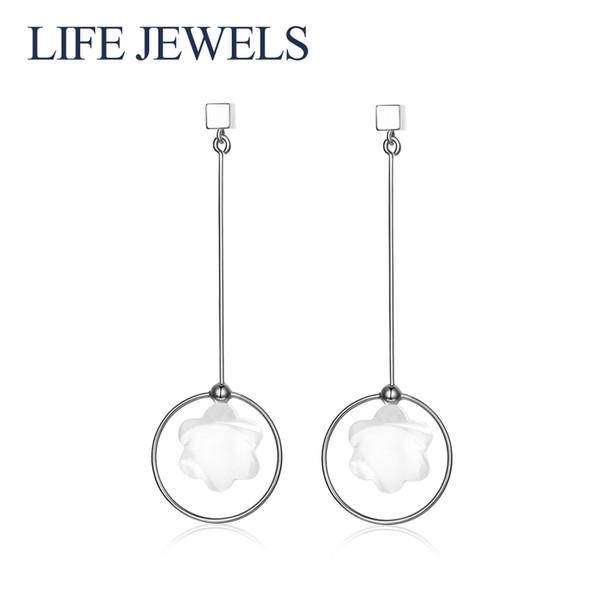 Authentique 100% 925 Sterling Silver Crystal Drop Boucles D'oreilles l Femmes De Luxe En Argent Sterling Valentine's Day Bijoux Cadeau 18108