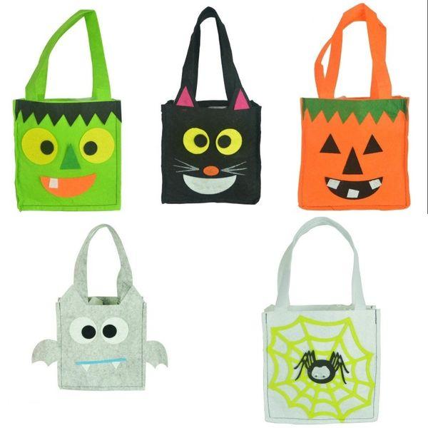 Halloween Tote Bag Handbag Gift Bags Halloween Children Bat Bag Devil Bags Kids Candy Handbag Bucket