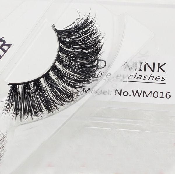 3D Mink eyelash Handmade crossing lashes thick Natural False Eyelashes for Beauty Makeup REAL mink Hair Eye Lash Extension Curl Thick Long F
