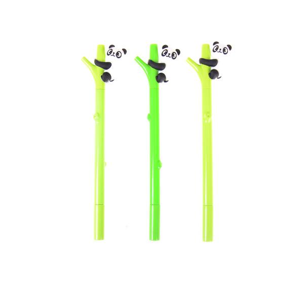 0.5mm Cartoon Panda Bamboo Neutro Penna Materiale plastico 0.5mm Penna Gel Scuola Ufficio Forniture Ricompensa Cancelleria Regalo Casuale 1 Pz