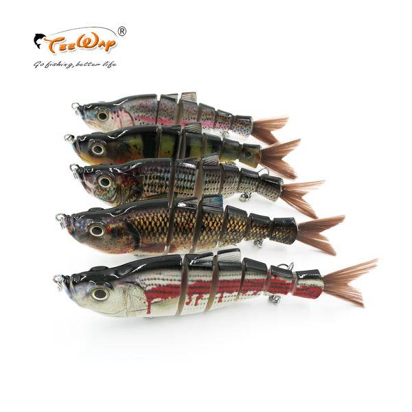 18cm 70g 6-segement Isca Artificial Pike Lure Muskie Fishing Lures Swimbait Crankbait Hard Bait Fishing Accessory FL6-J02