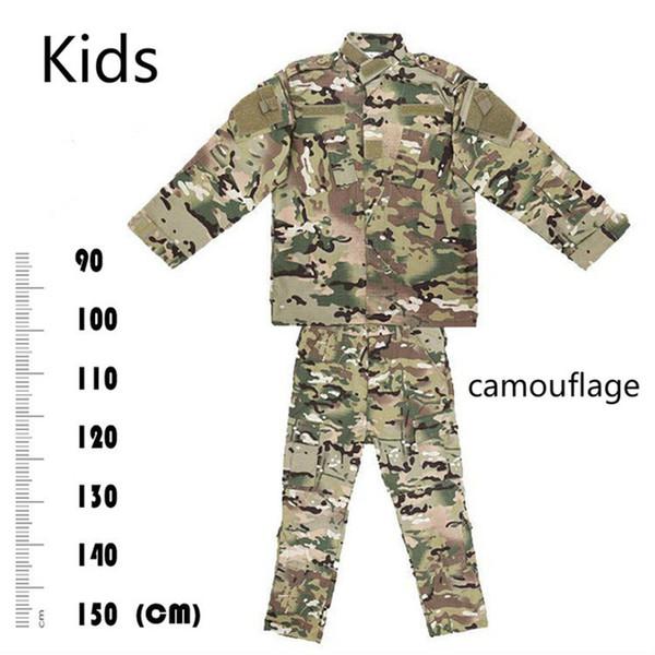 Caça Ao Ar Livre CP Camuflagem Terno Roupas Infantis Crianças do Menino do exército Tático ACU Uniformes de Combate CS Kids Sets