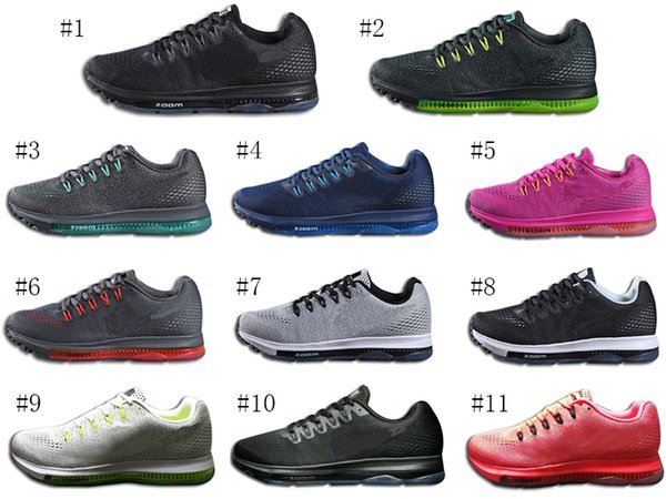 Wholesale! 2018 Cheap Zoom All Out Low Cut Ortholite Shoes 11 Clolors And Good Quality Running Sneakers Without Box