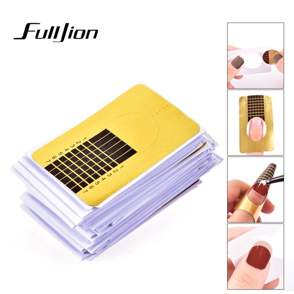 Fulljion Nail Forms Nails Gel Extension Stickers French Polish Gel Tips Guide Acrylic Curve Nail Form Manicure Styling Tools