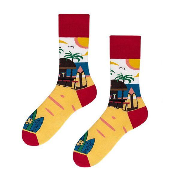 Diseñador de moda Calcetines de hombre Tela de algodón Calcetines masculinos y femeninos Divertidos creativos Neutral Style Calcetines de una pieza por bolso Opp