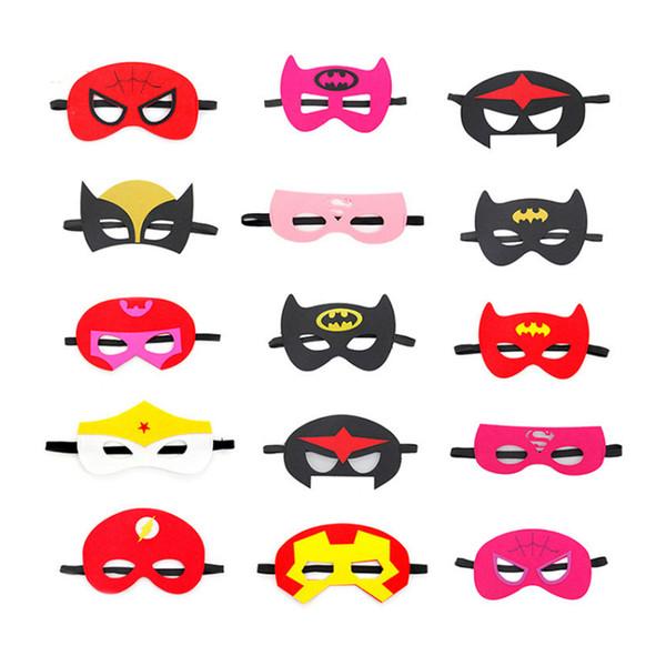 Hot Halloween Cosplay Masks More Designs 2 Layer Cartoon Felt Mask Costume Party Masquerade Eye Mask Children Kids Christmas Birthday Gift