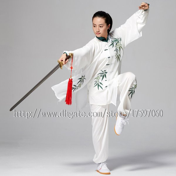 best selling Chinese Tai chi clothes Kungfu uniform taiji sword costume Qigong outfit embroidered garment for women men girl boy children adults kids