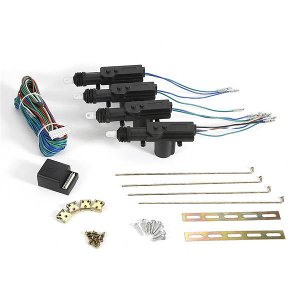 Universal Car Auto Remote Central Alarm Security Kit 4 Door Bracket Locking Keyless Entry System 12V auto Locking System Motor