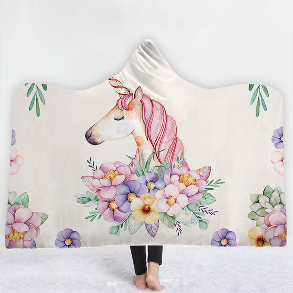 Snuggle Decke Mit ärmeln.Grosshandel Cartoon Unicorn Stilvolle Snuggle Decken Schafe Fleece