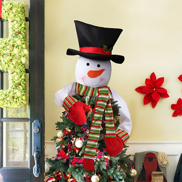 Christmas Decorations Snowman Tree Top Star Xmas Festival Party Home Decor Free Shipping 2 Style WX9-819
