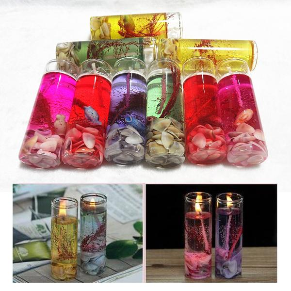 best selling Creative Colorful Sea Shells Jelly Environment Crystal Wax Transparent Glass Candle DIY Decorate Birthday Celebration Wedding Banquet