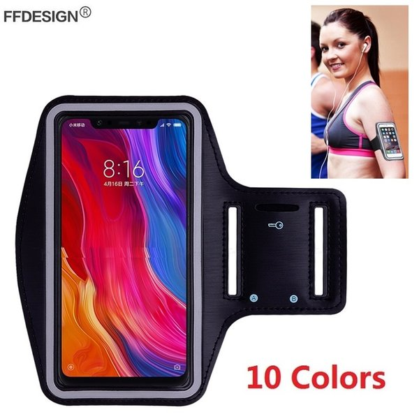 Gym Running Sports Case Armband for Xiaomi Mi 8 Mi8 SE Mi 6 5 4 3 Mix 2s 2 A1 A2 Lite Armband Phone Case Holder Bag on Hand