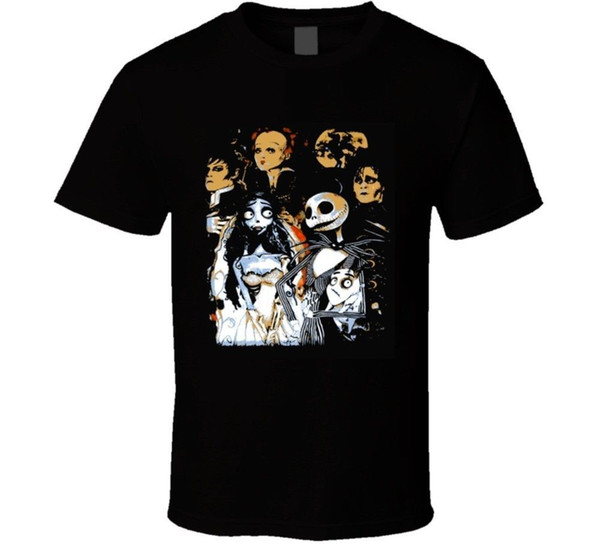 Tim Burtons Creations Movies, Mejor Director, Imaginarion Innovation T Shirt Style Round Style camiseta Camisetas Custom Jersey