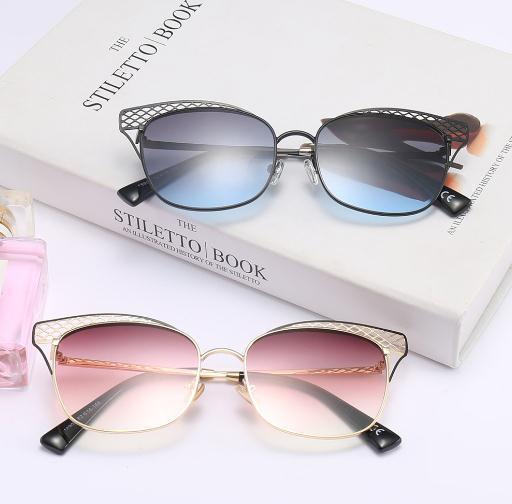 Europäische und amerikanische Cat Eye Sonnenbrille 2018 neue Netzschmetterlingssonne, europäische und amerikanische Mode-Sonnenbrille.