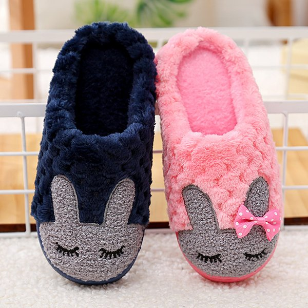 50ff6e1496970 Winter home bedroom slippers ladies cute cartoon men women lovers house  shoes soft warm plush furry
