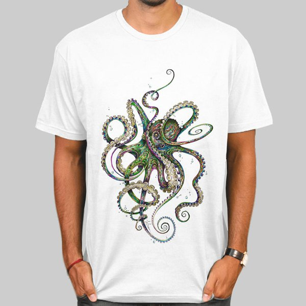 Octopus t shirt Color devilfish short sleeve gown Nice design tees Fastness picture clothing Quality modal Tshirt