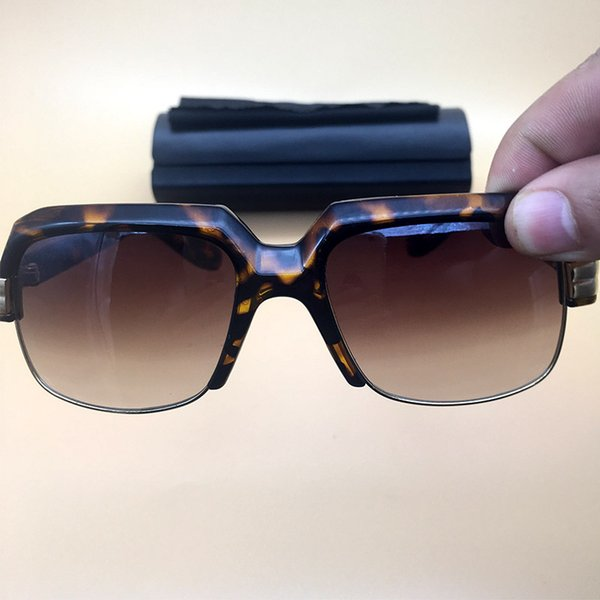 Demi-cadre Mens Womens lunettes de soleil 2018 été lunettes polarisées marque lunettes de soleil classique marque Anti-Uv eyegwears 670
