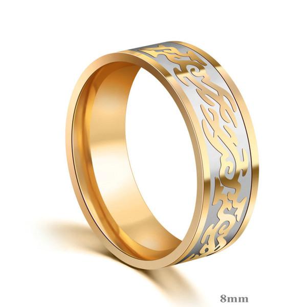 Prezzi degli anelli di fidanzamento Logo inciso 316 anelli in acciaio inossidabile # JZ029