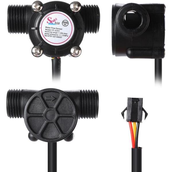 G1 / 2 Interruptor del sensor de flujo de agua 1.75MPa Interruptores de flujo de agua de sala 1-30L / min Sensor de agua del medidor de flujo para turbina de cocina de pared