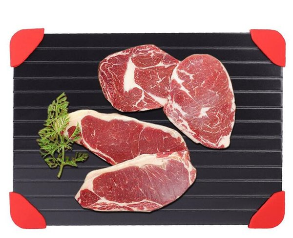 Schnell Auftauschale Lebensmittel Fleisch Obst Schnell Auftauen Platte Schnell Auftauen Tiefkühlkost Küche Werkzeuge Mit Silikon Beine Kanten pad G336