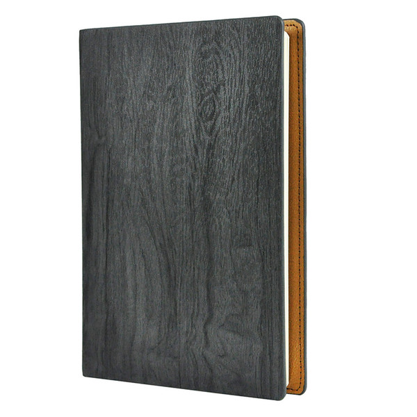 Wholesale A5 Leather Diary Journal Diary Notebook Wood Grain Notepad Work-book