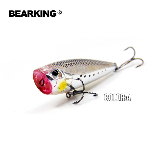 BearKing Hot model fishing tackle 5pcs/lot A+ fishing lures,hard baits popper 5 assorted colors,popper 60mm 7.0g free shippingY1883010