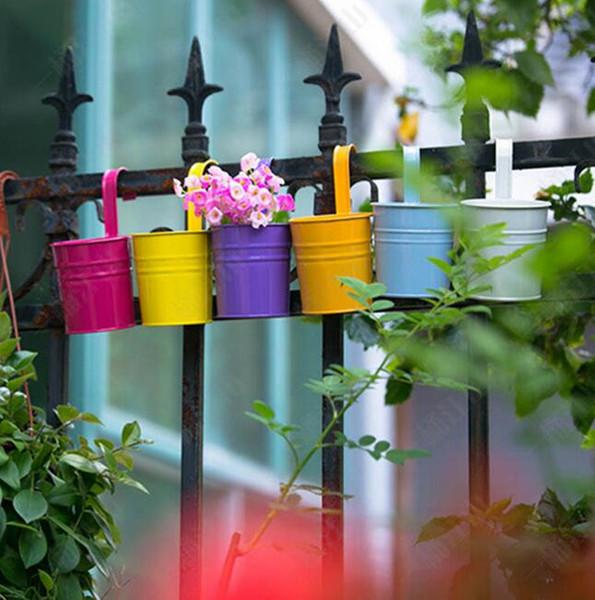 10 Color Hanging Flower Pot Wall Planters Gardening Decorations Garden Bag Planter Firm Flowerpot EEA273 60pcs
