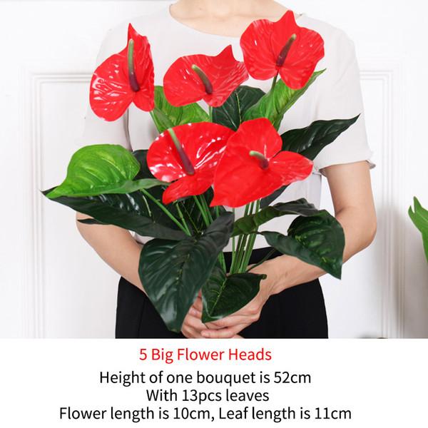 5 больших цветковых головок