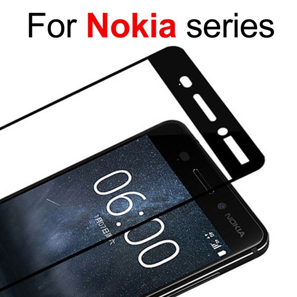 Full cover for nokia 6 tempered glass for nokia X6 screen protector 7 protective glas 9h protect 2.5d protection film