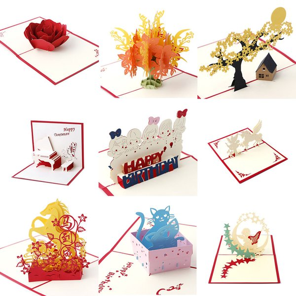 3d pop up greeting card handmade happy birthday merry christmas 3d pop up greeting card handmade happy birthday merry christmas card gifts bookmarktalkfo Images