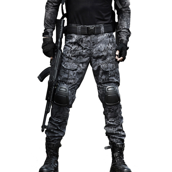 sincha / Taktische Hosen Cargo Pants Männer Knie Pad SWAT Armee Camouflage Kleidung Jäger Feld Arbeit Kampf Hosen Woodland