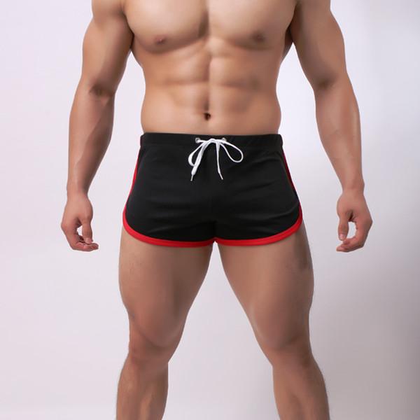 Мужские 3 очка спортивные шорты быстросохнущие повседневная Boyshort ремни тела скульптуры удобные лоскутные шорты для храбрых мужчин
