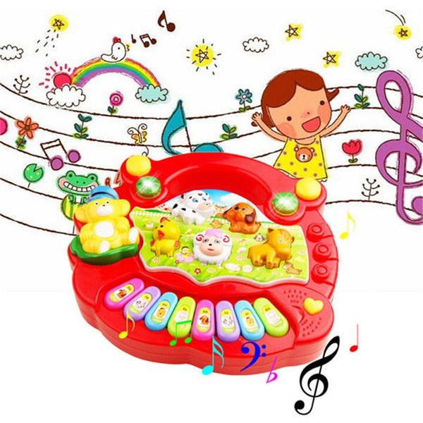 New Fashion Baby Kids Musical Educational Piano Animal Farm Developmental Music Toy Hot Selling Wholesale Retail Box Free Shipping