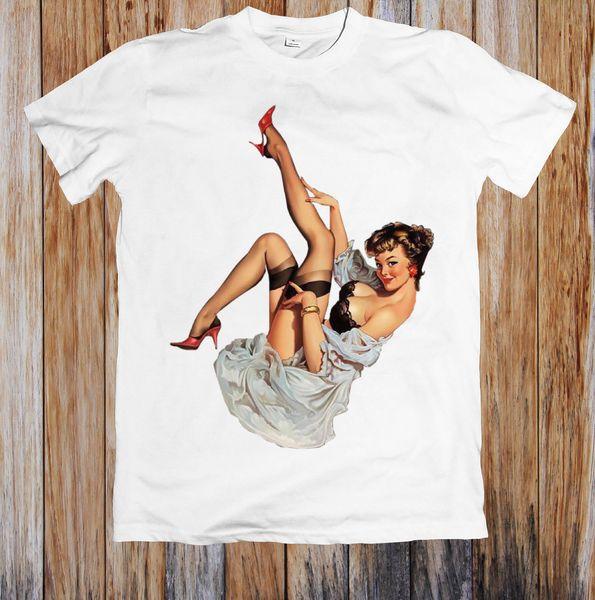 T-SHIRT SEXY LADY LIFTING LEG UNISEX T-shirt manica corta taglie forti