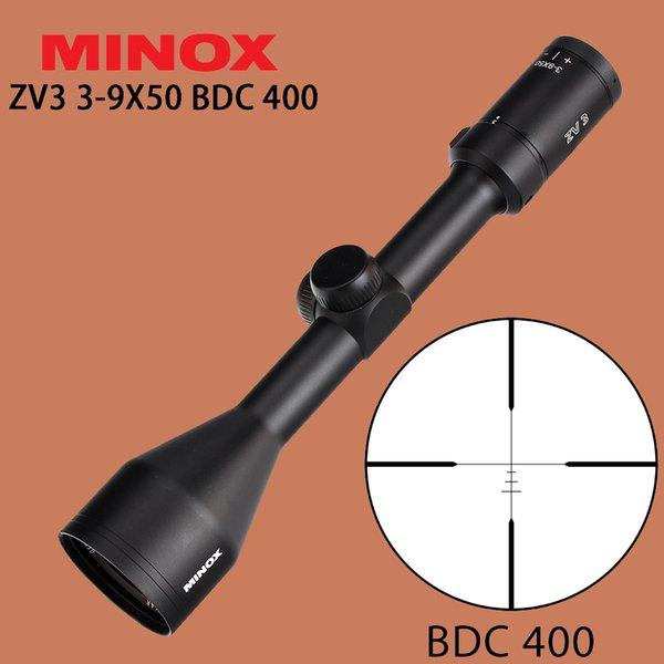 Toptan ZV 3 3-9X50 Avcılık Tüfek BDC 400 Tel Reticle 1 Inç Tüp Optik Manzaraları için Uzun Göz Rölyef Taktik Tüfek Kapsam