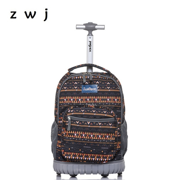 35c7aaf6dfaa Bohemian Lightweight Wheeled Trolley Backpack Straps Cabin Bag Travel  Luggage Backpack With Wheels Rolling Suitcase For Kids Bags Shop From  Sunsnoww, ...