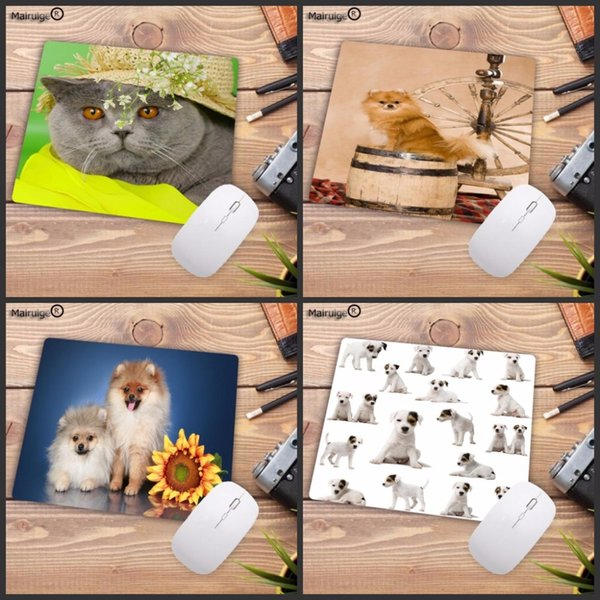 Mairuige Animal Top Quality dog Gamer Speed Mice Retail Small Rubber Mousepad Size for 18x22cm
