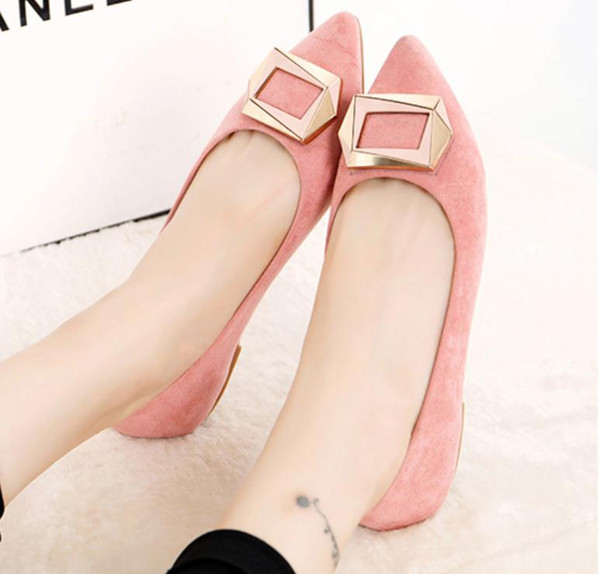 Free send 2016 new style pointed end flat bottom shoes Shallow mouth women's shoes