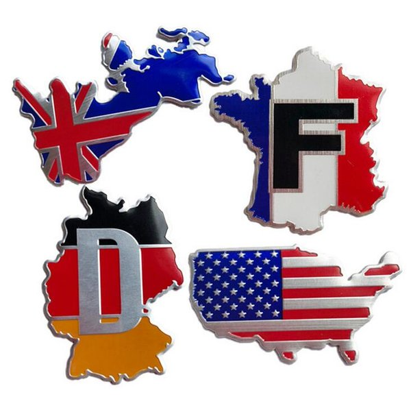 Map Of England Over Usa.2019 Uk Germany France Usa Flag Map England Territory Quality 3d Aluminum Car Auto Badge Emblem 3m Sticker Exterior Car Styling Accessories From