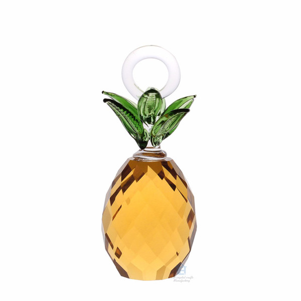 40mm Cut Crystal Glass Pineapple Hanging Home Paty Ornaments Decoration Birthday Christmas Souvenir Gifts Crafts Art&Collection
