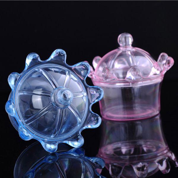 Wholesale 36 PCS/Lot Plastic Crown Transparent Candy Box Chocolate Storage Box Baby Shower Wedding Gift