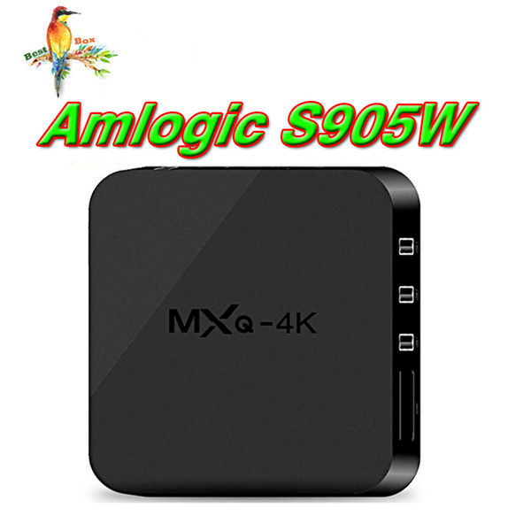 Factory MXQ Pro 4K Android 7.1 TV Box RK3229 Set Top Box 4K Ultra HD Quad-core Streaming Media Player Amlogic S905W Support WiFi HDMI2.0