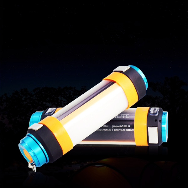 8 in 1 Multifunctiona USB Rechargeable Flashlight Power Bank Torch Outdoor Camping Lamp LED 10pcs NNA267
