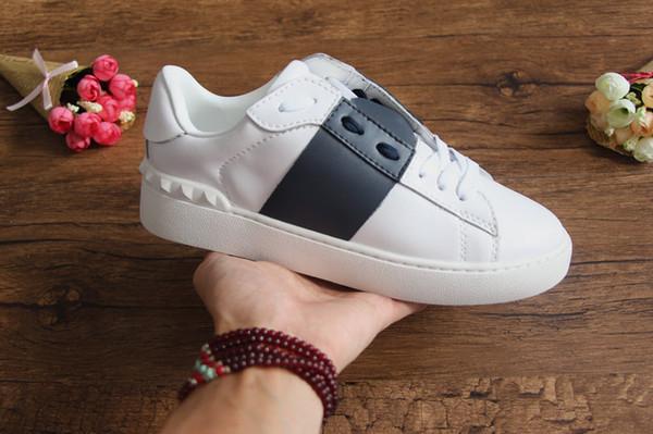 Модный дизайнер мужская женская марка обуви с низким верхом из кожи кроссовки с л