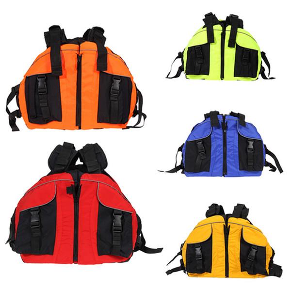 Veste de gilet de sauvetage d'enfants adultes de polyester chaud pour l'aide surfant le canot de pêche de kayak
