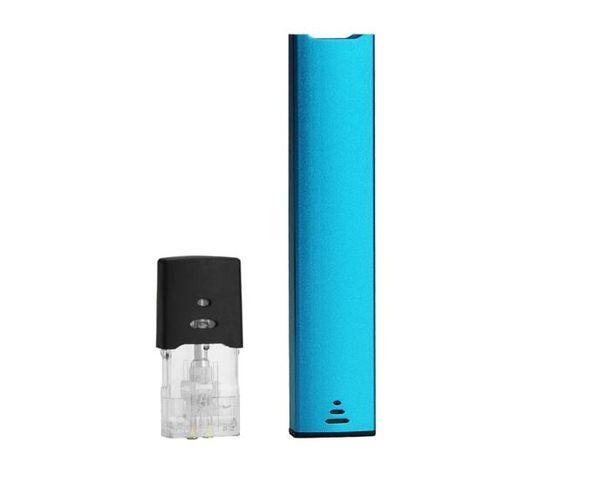 closed pod system vaporizer e cigarette 250mah vape pen rechargeable pod pen flat e cigarette starter full set with refilled oil cartridges
