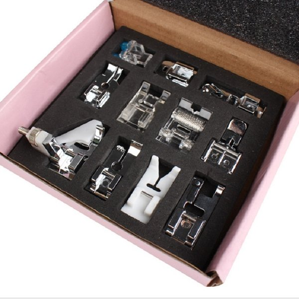 11Pcs/set Stainless Steel Sewing Machine Presser Foot Feet For Brother Singer Janome DIY Domestic Home Sewing Accessories