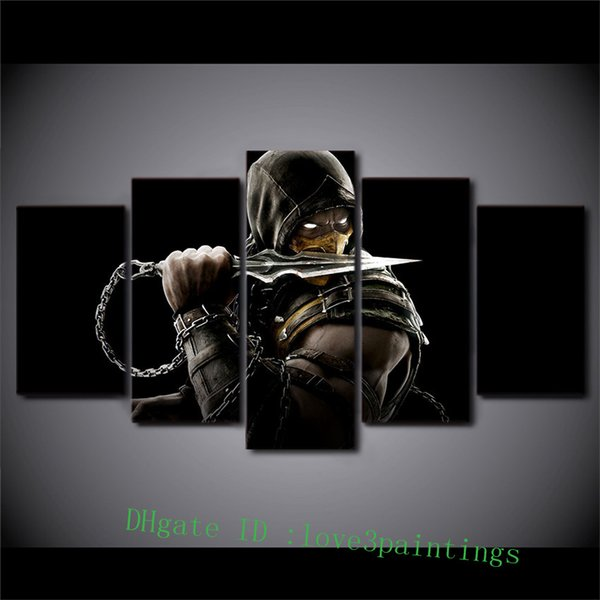 Mortal Kombat -2,5 Pieces Home Decor HD Printed Modern Art Painting on Canvas (Unframed/Framed)