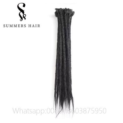 Tığ Örgüler Sentetik Saç El Yapımı Örgü Saç 24 inç Dreadlocks Kanekalon Saç Extenstion Saf Renk El Yapımı Dreadlocks için Afrika