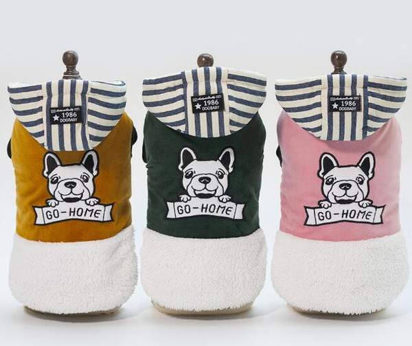 Pet dog clothing spot autumn winter new 18 puppy cotton coat free shipping